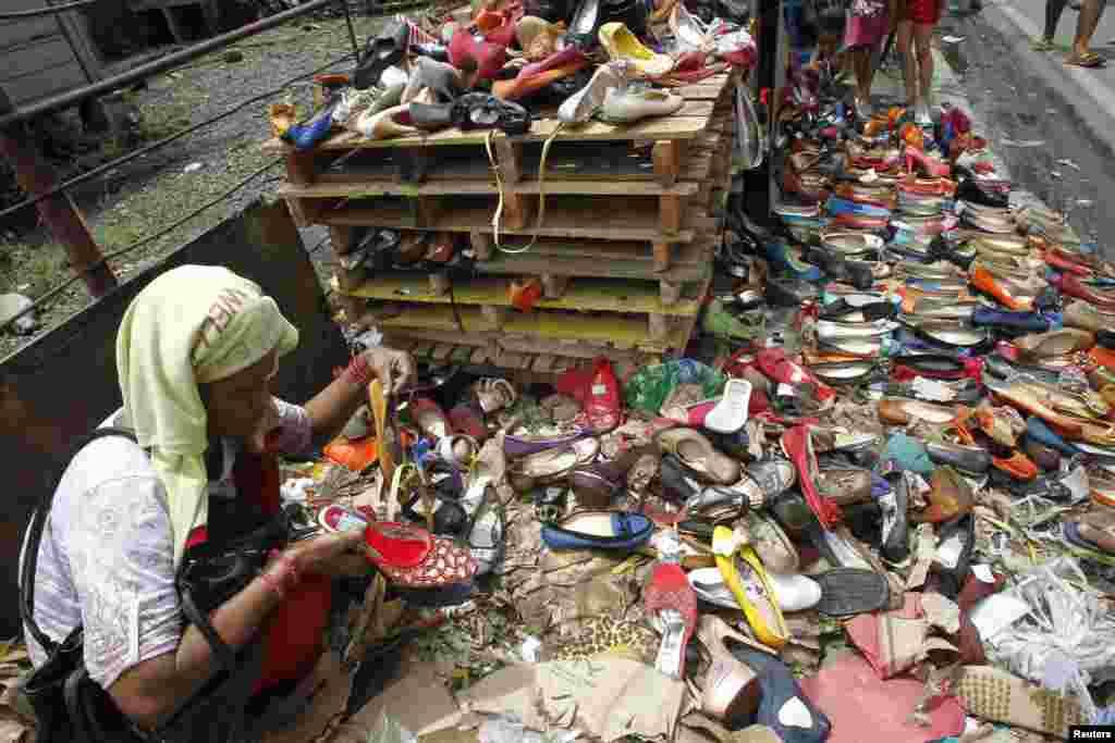 Poplava u siromašnoj četvrti Manile, prestonice Filipina.
