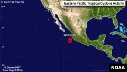Tropical Storm Norbert, Sept. 2, 2014