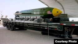 """有""""炸彈之母""""之稱的GBU-43 炸彈"""