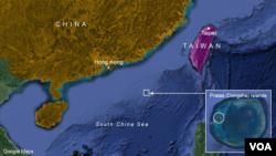 Quần đảo Đông Sa ở phía bắc Biển Đông