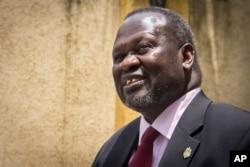 FILE--- South Sudan's rebel leader Riek Machar.