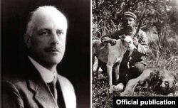 Francis Richard Barnes (trái) và Cornelius Van Rooyen (History_of_breed.html)