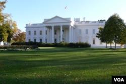美国总统官邸-白宫 (美国之音记者 张松林拍摄)