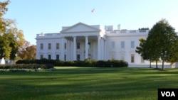 美国总统官邸白宫 (美国之音张松林拍摄)