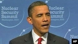 President Barack Obama at the Nuclear Security Summit in Washington, 13 Apr 2010