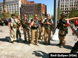 Klivlend şəhərində silah tərəfdarlarının nümayişi
