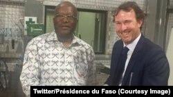 Le président burkinabè Roch Marc Christian Kaboré, a inauguré samedi à Houndé, dans l'ouest du Burkina Faso, 9 décembre 2017. (Twitter/Présidence du Faso)