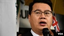 香港民主黨立法會議員尹兆堅。(美國之音湯惠芸)