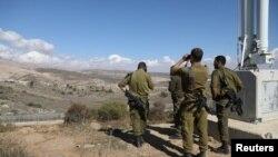 گروهی از سربازان اسرائیلی در منطقه اشغالی بلندی های جولان