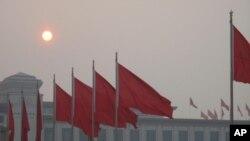 北京天安门广场的早晨