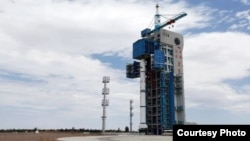 A domestically developed Pakistani satellite is being prepeared for launch at Jiuquan center in northwest China, July 9, 2018. (Courtesy - Pakistan Foreign Ministry)
