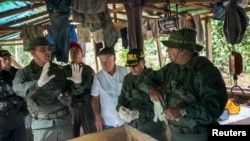 Venezuelan military operation to destroy a clandestine drug laboratory near of the border with Colombia. (File)