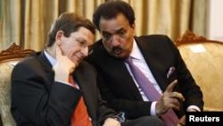 Prezident Obamaning Pokiston va Afg'oniston masalalari bo'yicha maxsus vakili Mark Grossman, Pokiston Ichki ishlar vaziri Rahmon Malik