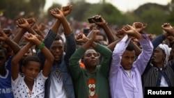 Des manifestants avaient protesté contre le gouvernement au festival Irreecha, le 2 octobre 2016, en Éthiopie.