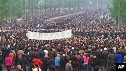 中国重庆市万盛区发生大规模民众抗议