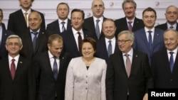 Šefovi država i vlada zemalja EU i istočnog susedstva na samitu u Rigi, 22. maja 2015.