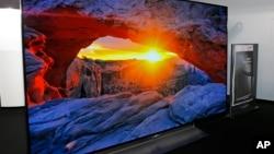 La nueva televisión ULTRA HD OLED de 55 pulgadas presentada en el CES.