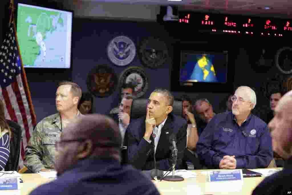 ԱՄՆ-ի նախագահ Բարաք Օբաման 2012 թվականի հոկտեմբերի 28-ին այցելել է Արտակարգ իրավիճակների կառավարման դաշնային գործակալությունը
