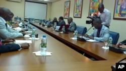 Sala de Reuniões da Comissão Nacional Eleitoral de Angola (Arquivo)