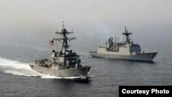 美韩海军2017年4月25日举行联合演练) (美国海军照片)
