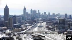 美國南部亞特蘭大市受罕見寒冷天氣吹襲