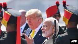 Shugaban Amurka Donald Trump da Firayim Minista Narendra Modi na Indiya