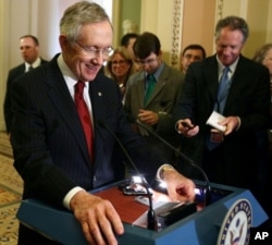 Harry Reid, leader de la majorité démocrate au Sénat