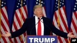 미국 공화당의 도널드 트럼프 대선 후보가 8일 플로리다주 주피터의 '트럼프 내셔널 골프 클럽'에서 기자회견을 열었다.