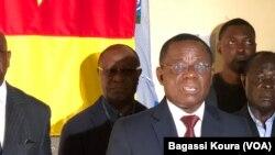 Maurice Kamto à Yaoundé au Cameroun, le 8 octobre 2018. (VOA/Bagassi Koura)