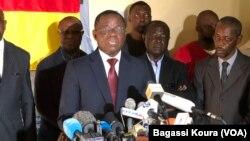 Maurice Kamto, Yaoundé, Cameroun, le 8 octobre 2018. (VOA/Bagassi Koura)