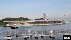 里根號航母抵達日本橫須賀港展開常駐使命