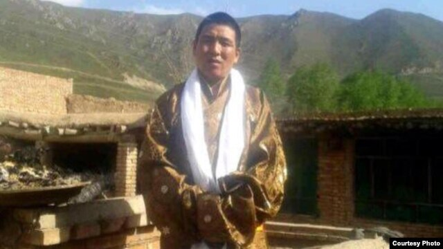 Dhondup Wangchen after his release from prison, Qinghai province, China, June 5, 2014.