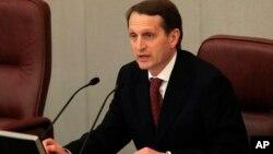 Спикер Госдумы Сергей Нарышкин (архивное фото)