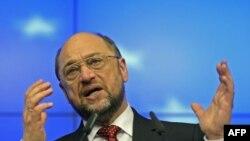 Predsednik Evropskog parlamenta, Martin Šulc, na samitu Evropske unije u Briselu, 30. januar, 2012.