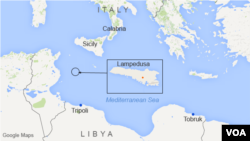 Lampedusa, Sicily, and Calabria