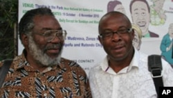 Zimbabwean playwright Stephen Chifunyise and producer Daves Guzha