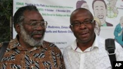 Zimbabwean playwright Stephen Chifunyise and producer Daves Guzha