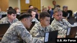 美国空军2018年9月12日举行的一场网络培训活动(美国空军)