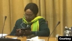 Post Cabinet Meeting Minister Monica Mutsvangwa