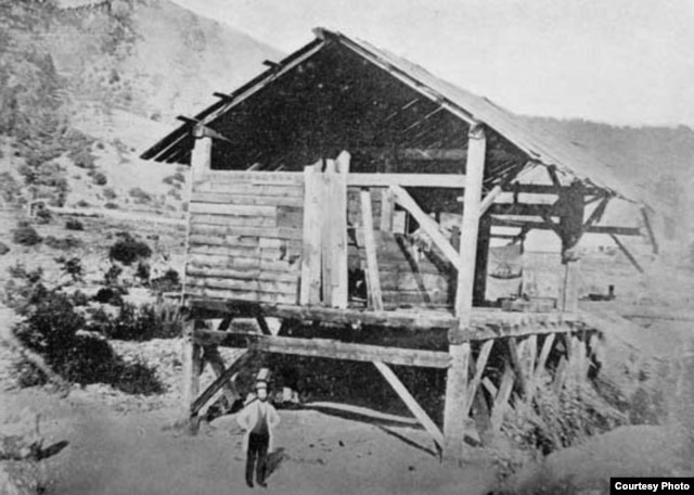 This is where the great California gold rush began in 1849, when James Marshall, a carpenter working for John Sutter, found the first nuggets. Marshall posed there a year later. (Wikipedia Commons)