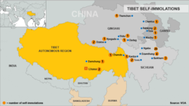 Map of Tibetan Self-Immolations, Updated August 27, 2012