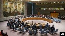 Sidang Dewan Keamanan PBB untuk resolusi mendukung kesepakatan damai AS-Taliban, Selasa, 10 Maret 2020.
