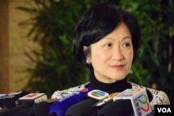 香港特首參選人葉劉淑儀。(美國之音湯惠芸攝)