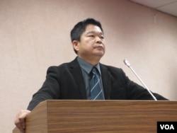 台湾在野党民进党立委蔡煌琅 (美国之音张永泰拍摄)