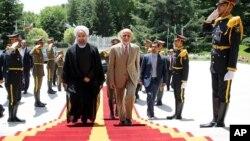 د افغانستان صدر اشرف غني او د ایران صدر حسن روحاني