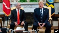 رئیس جمهوری آمریکا روز دوشنبه جداگانه با نتانیاهو و بنی گانتز دیدار کرد.