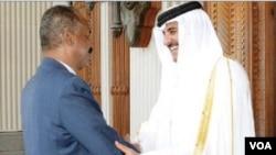Eritrean president in Qatar