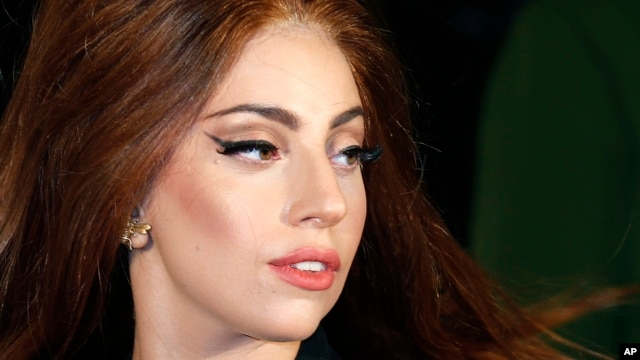 "Lady Gaga arrives for the UK launch of her new fragrance ""Fame"" outside Harrods in London, Oct. 7, 2012."