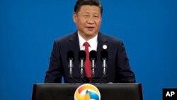 Chủ tịch Tập Cận Bình phát biểu tại hội nghị thượng đỉnh về Sáng kiến Vành đai và Con đường năm 2017.