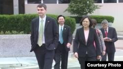 蔡英文在美国国务院 (图片来源:蔡英文访美媒体团)